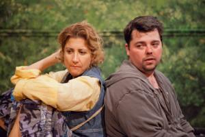 Photos courtesy Greg Eident Photography. Thomas Bigley as Timon and Cynthia Beckert at Apemantus