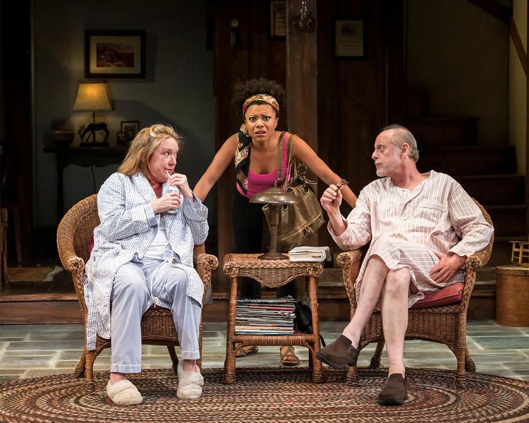 (L-R): Kristine Nielsen, Shalita Grant and Mark Blum  Photo by Craig Schwartz