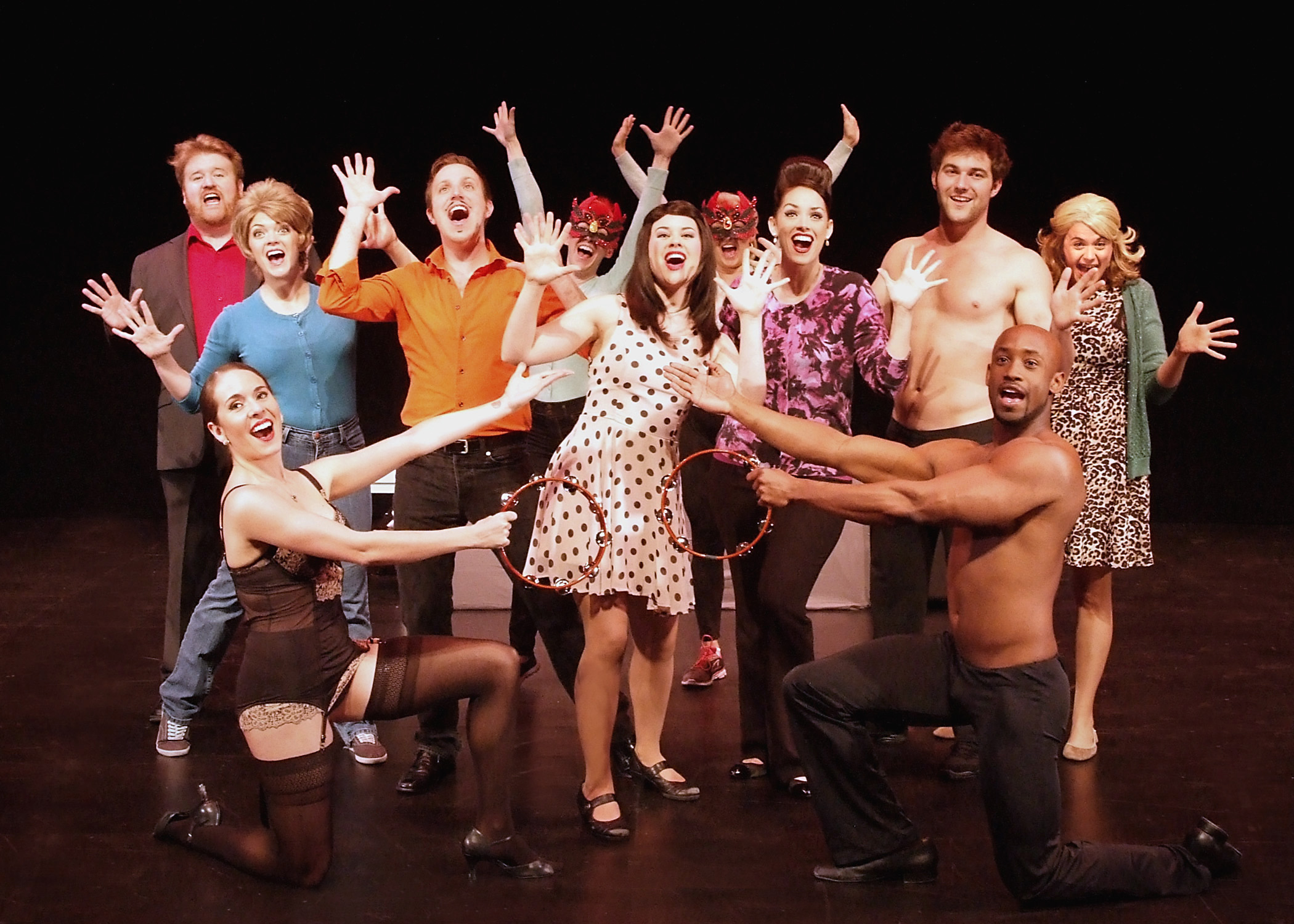 The Cast of 50 Shades! Musical. Photo by Ed  Krieger