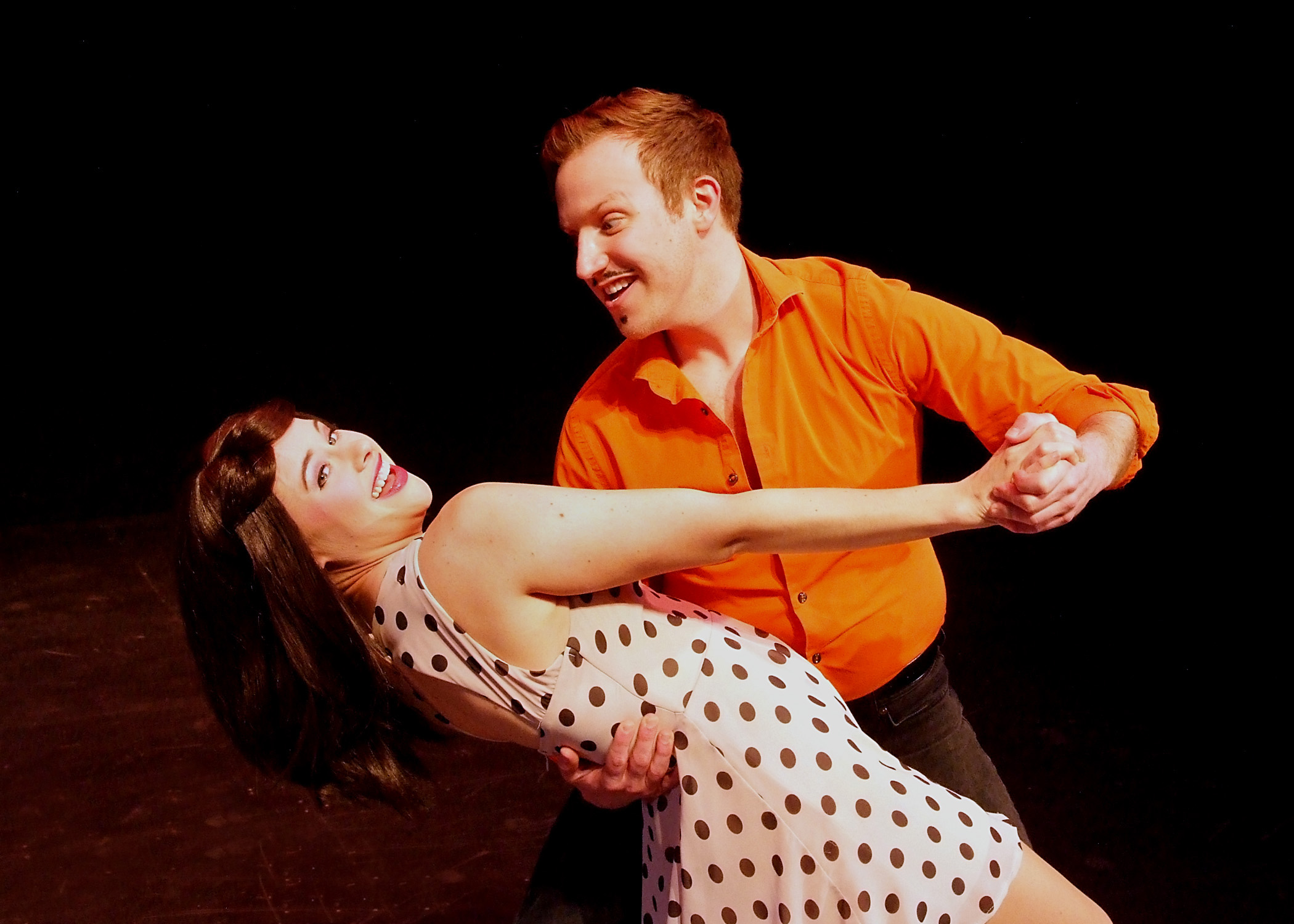 ( L to R) -  Eileen Patterson and Nick Semar in 50 Shades! The Musical.  Photo by Ed  Krieger