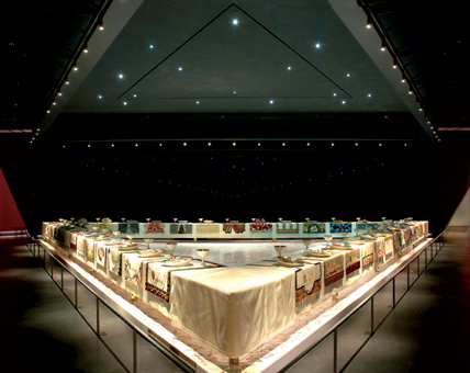 """The Dinner Party"" by Judy Chicago"