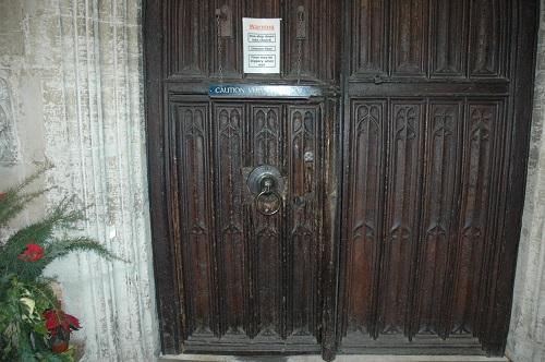 Tiny front door - I had to duck!